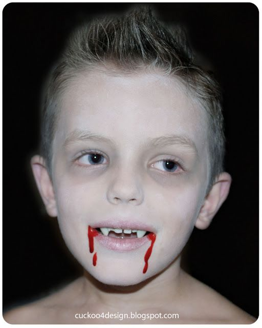 boy vampire make-up
