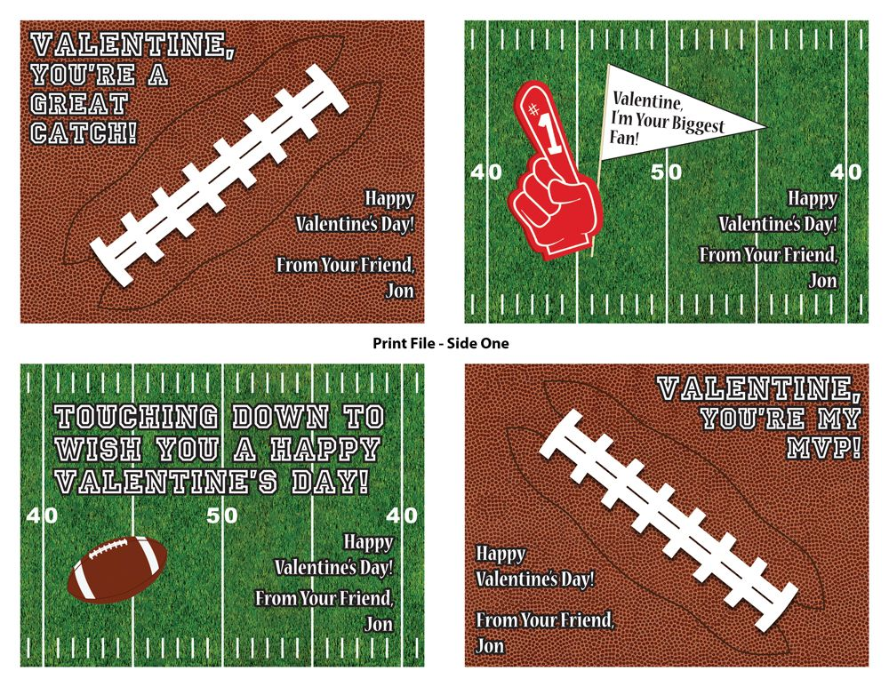 explore football baseball and more printable personalized baseball valentine cards - Football Valentine Cards