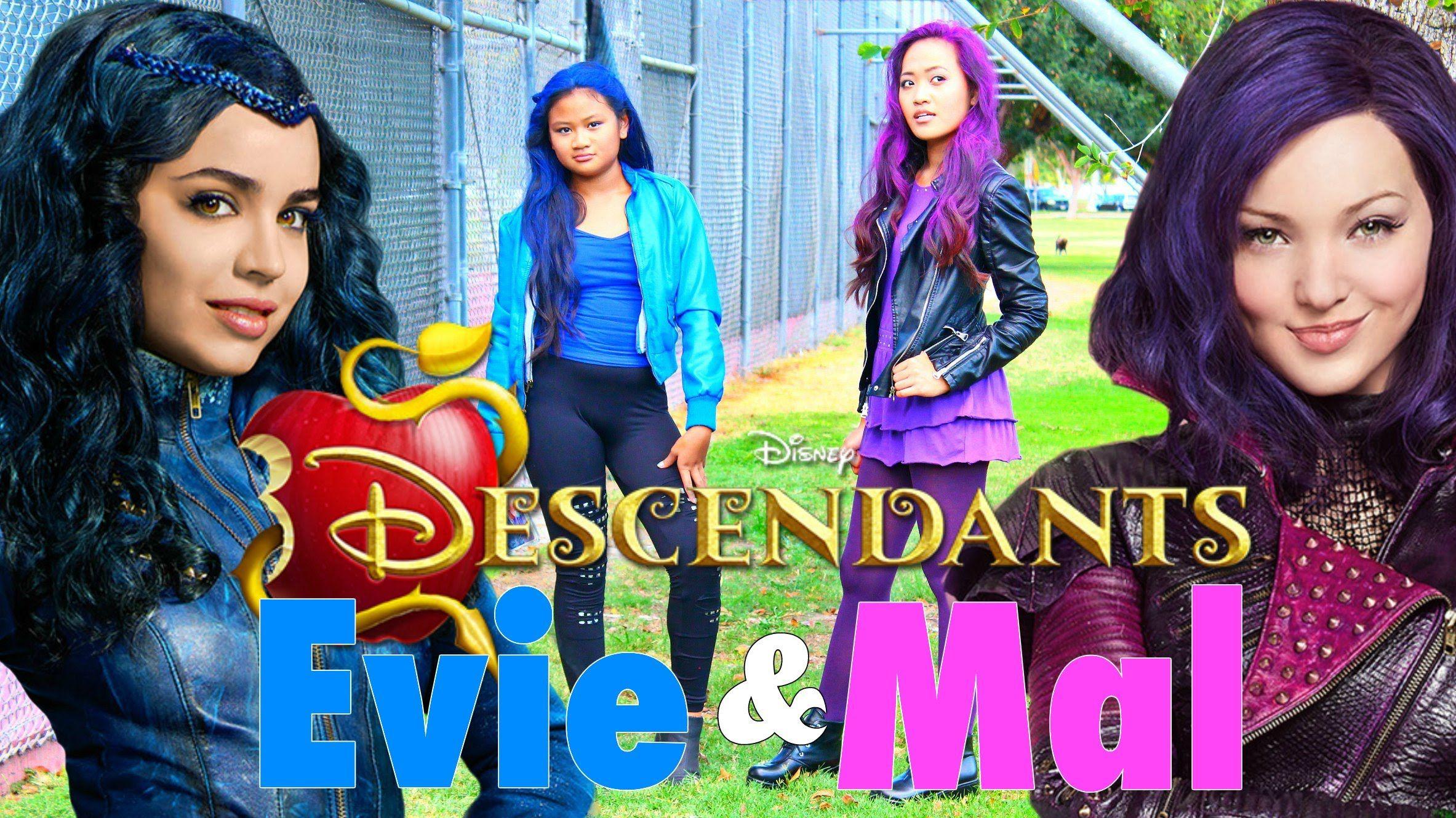 Diy Halloween Costumes Disney S Descendants Mal Amp Evie
