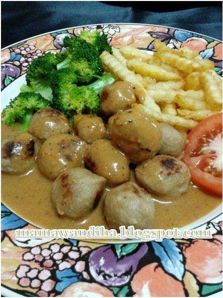 Dari Dapur Madihaa Sweedish Meatball Ala Ikea Memang Sedap