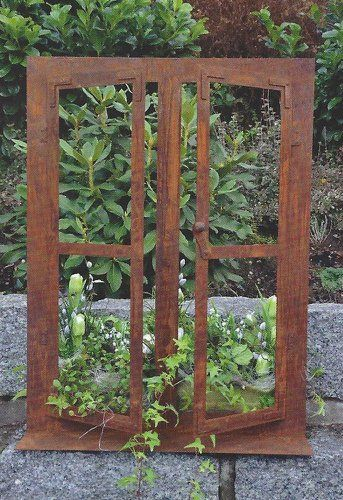 Deko Fenster 80 X 60 Cm Zum Offnen Edelrost Rost Gartendeko Dekoration Garten Kaufen Bei Hood De Rost Deko Garten Garten Deko Steinmauer Garten