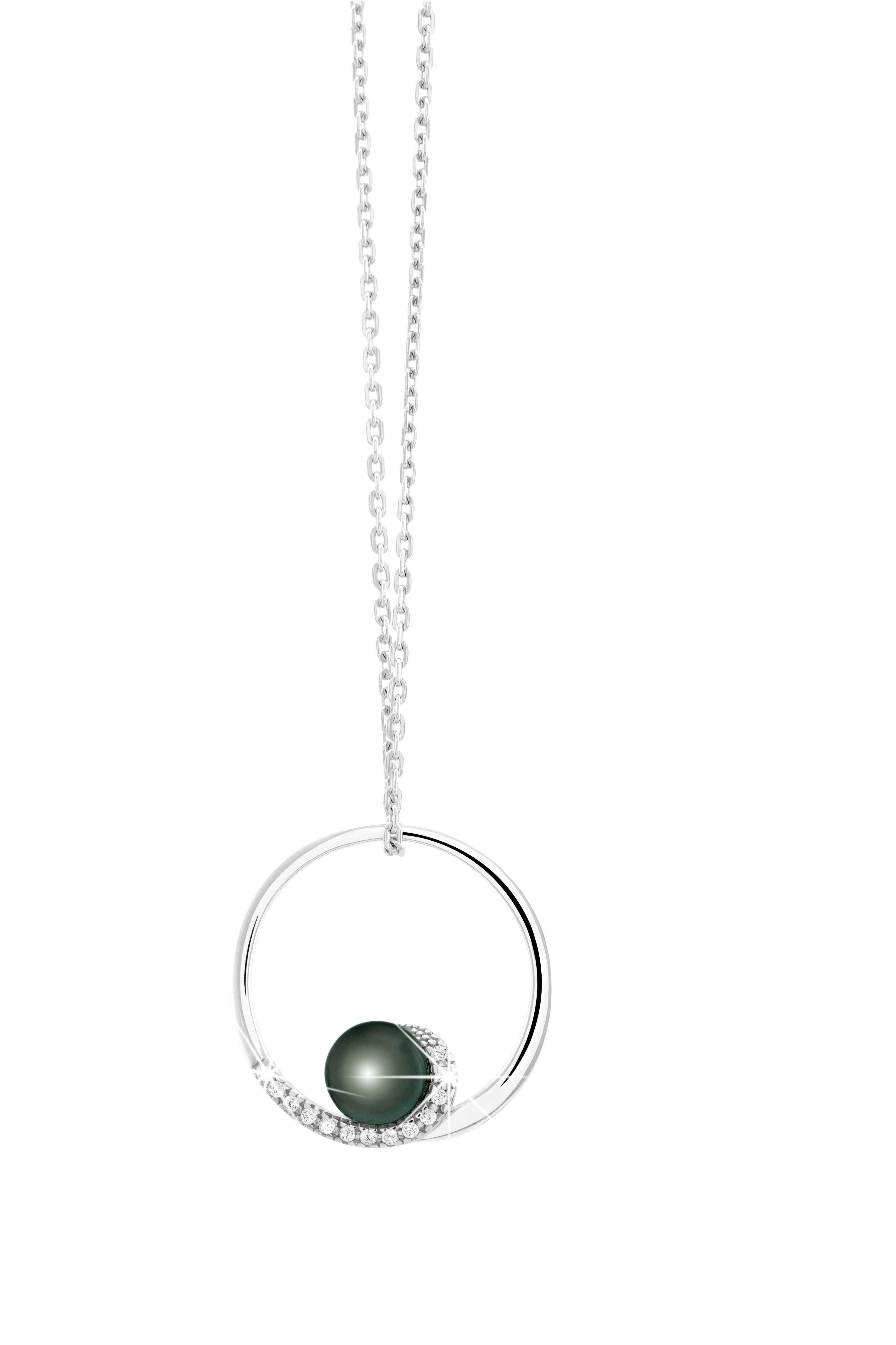 b072d15fc668f Collier Diamantor   Argent et oxydes de zirconium et perle  collier  femme   bijoux  diamantor  cadeau  noel  argent  fantaisie  pendentif  diamantor   cadeau ...