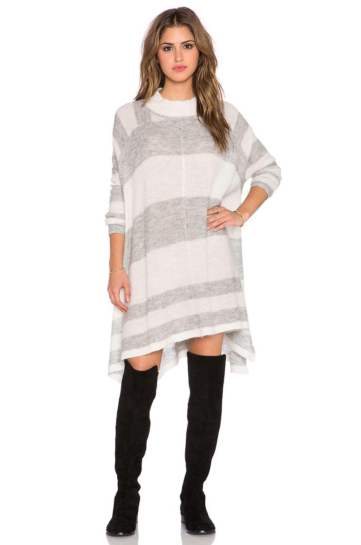 93e6b44934 FREE PEOPLE Lafayette Stripe Mock Poncho. #freepeople #cloth #dress #top # shirt