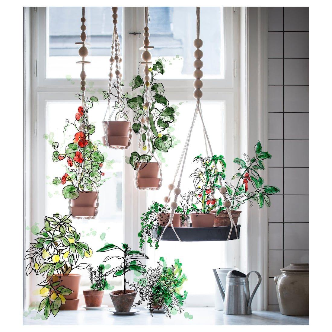 ANVÄNDBAR Hanging plant holder hanging, natural