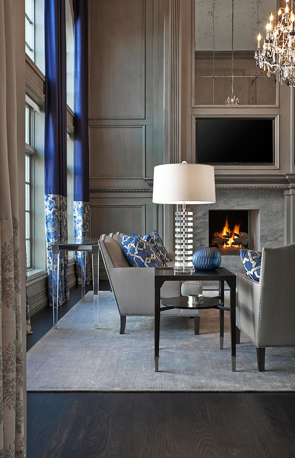 Howell Residence Tutto Interior Design Michigan Living Room