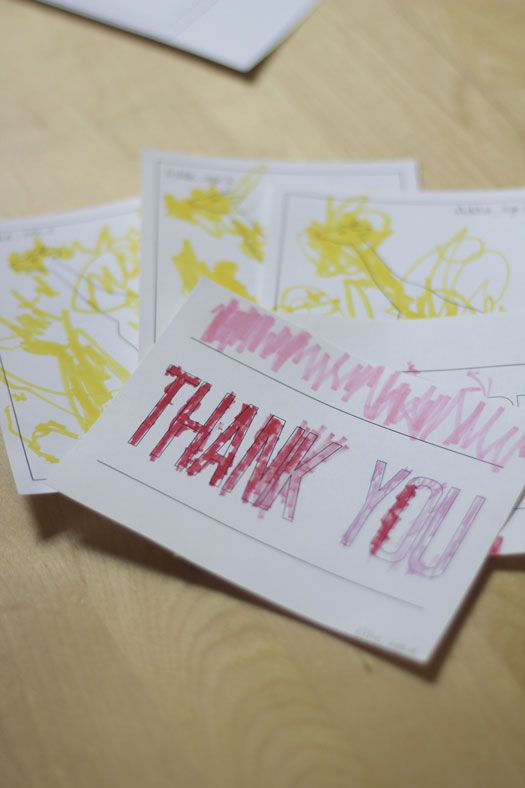 Thank you notes for the kids to color via Swoonstudio.   DIY with ...