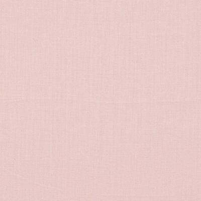 Schumacher Lange Glazed Linen Fabric Color: Rosequ