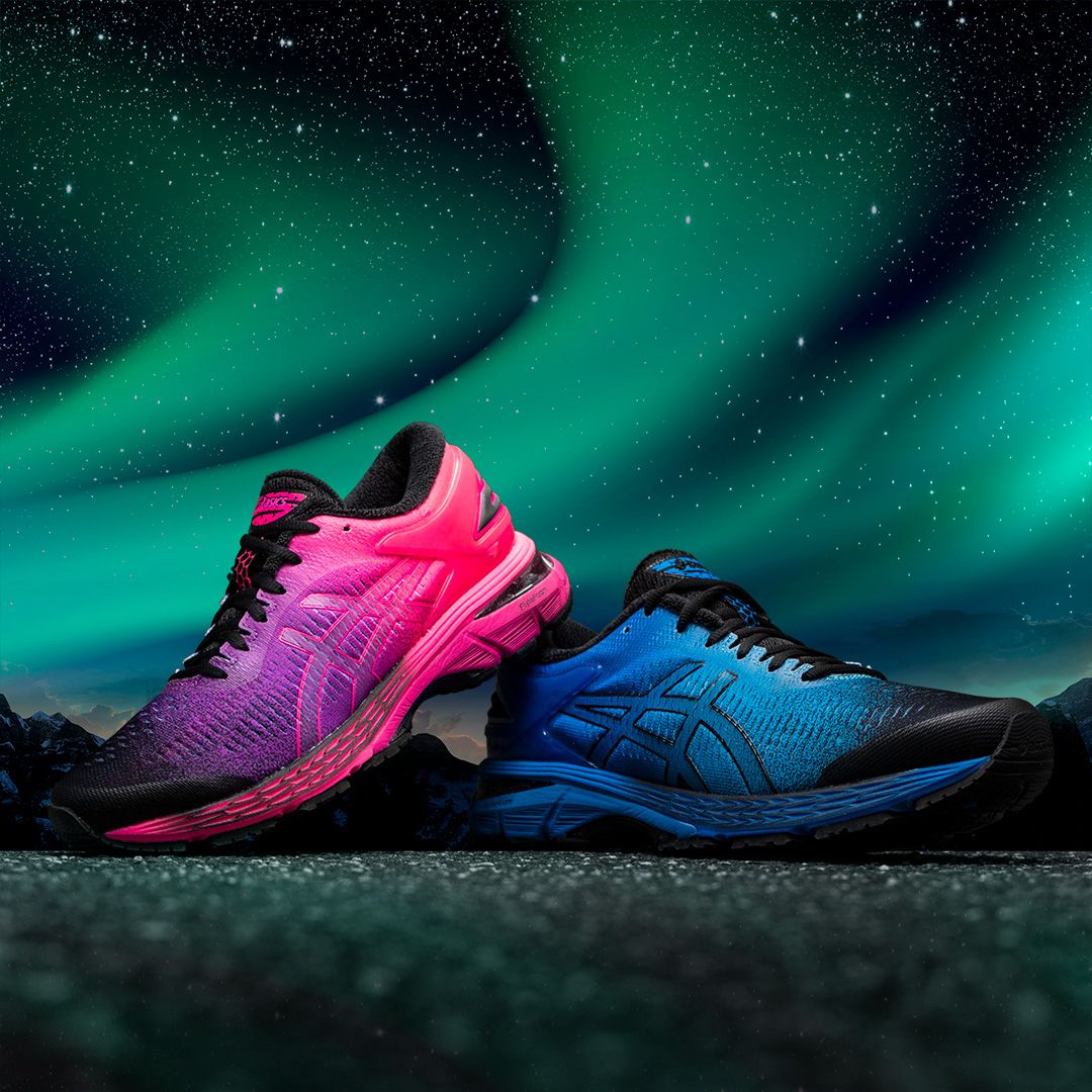 6a73d997266 Inspired by the Northern Lights some of their best running shoes just got a  brilliant three-toned color update including the Kayano ...