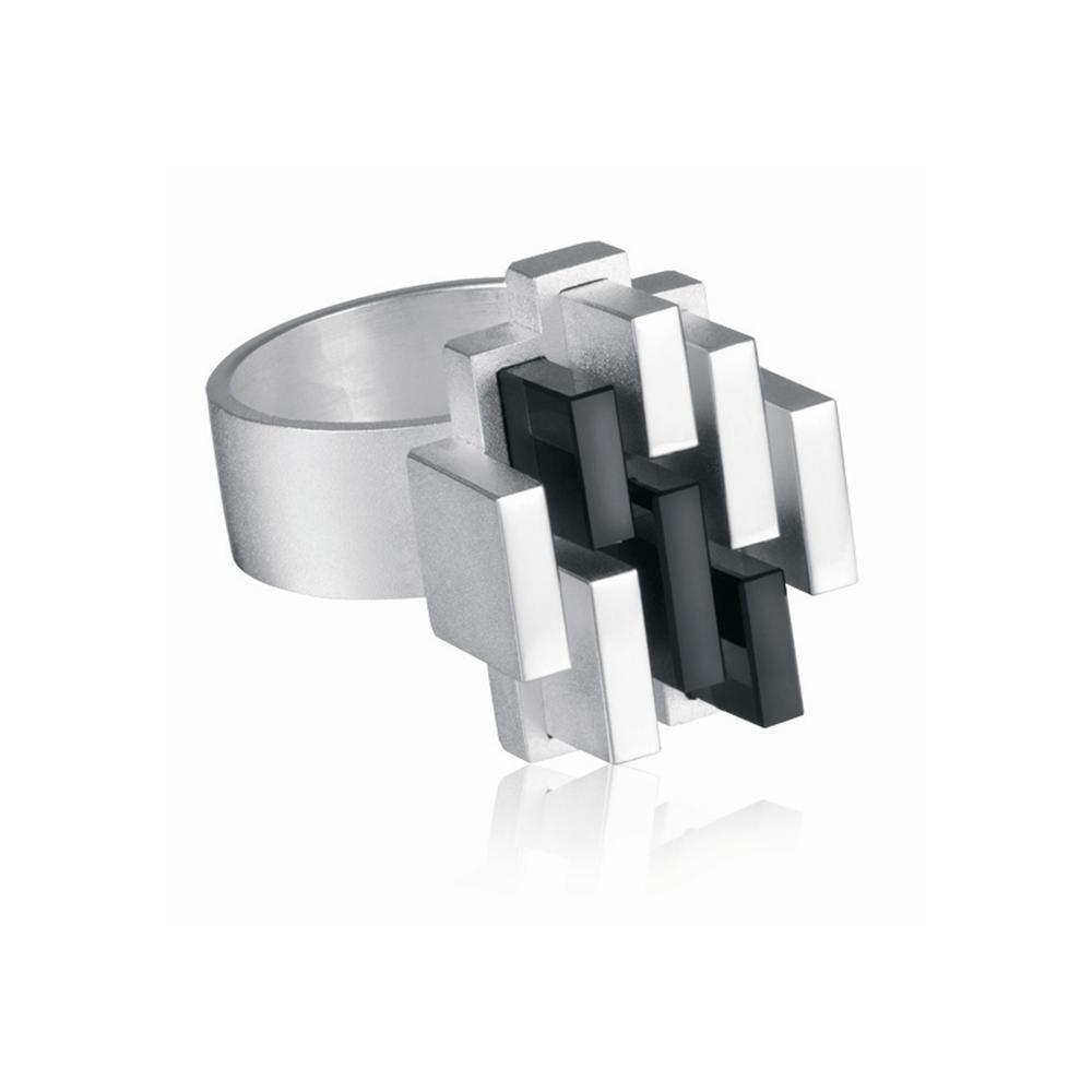 MANHATTAN Silver Ring / Design Björn Weckström / Handmade in Helsinki / Lapponia Jewelry