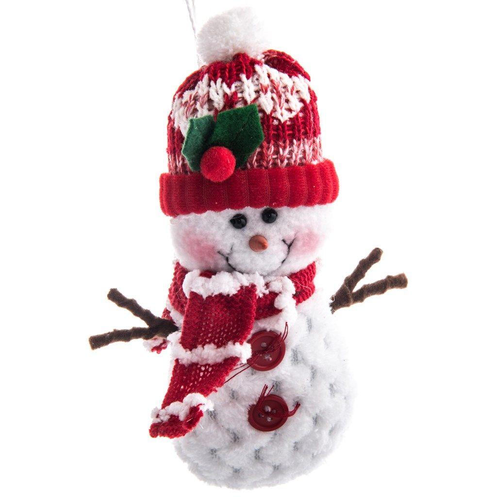 Shop.CrackerBarrel.com: Christmas Fabric Snowman Ornament - Cracker ...
