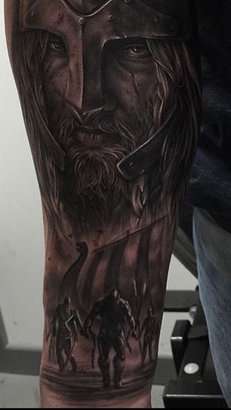 The start of my sleeve so far vikings nordic tattoo for Norse tattoo sleeve