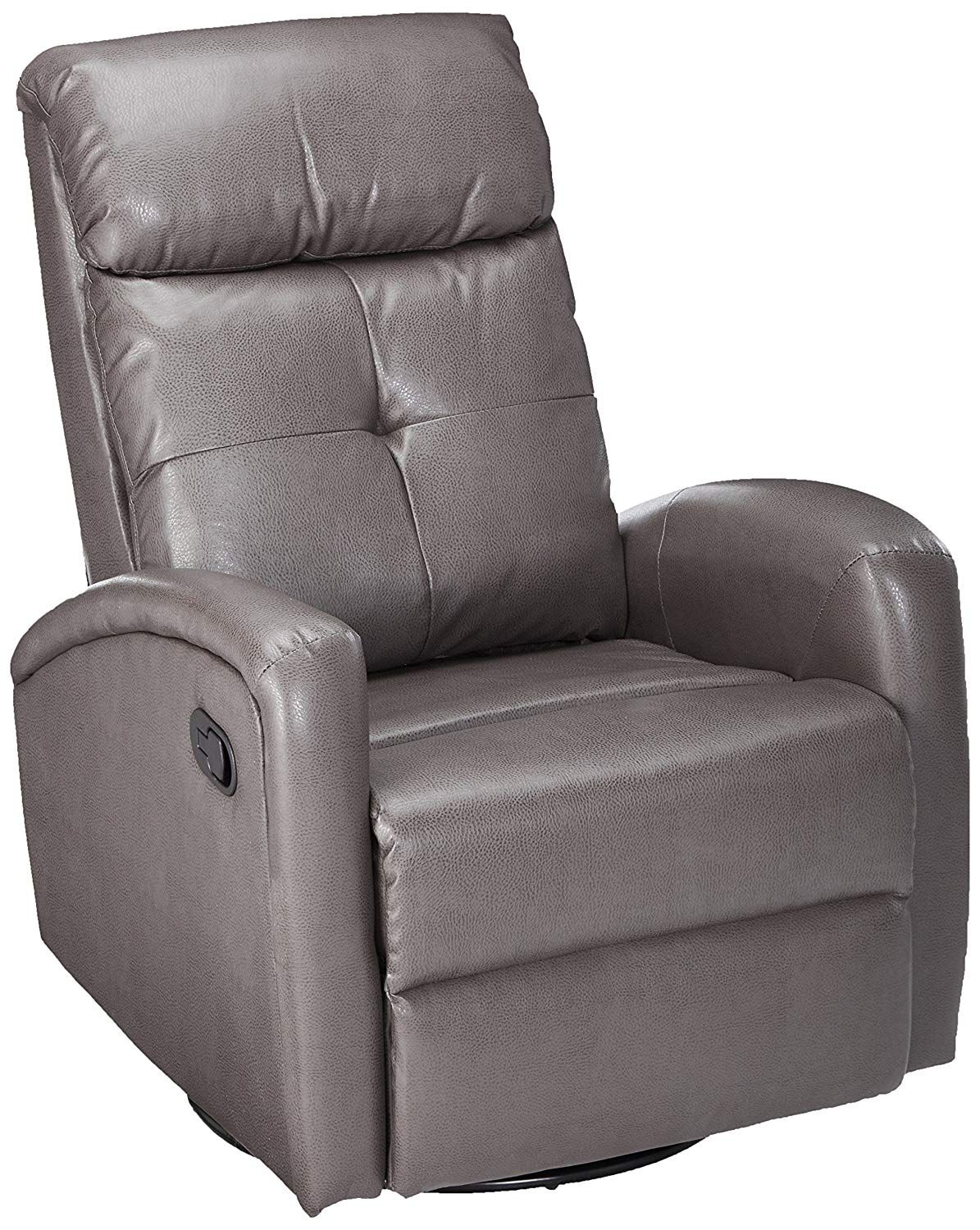 Monarch I 8088Gy Swivel Glider Recliner, Charcoal Grey