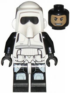 LEGO White Star Wars Rebel Scout Trooper Minifigure Helmet