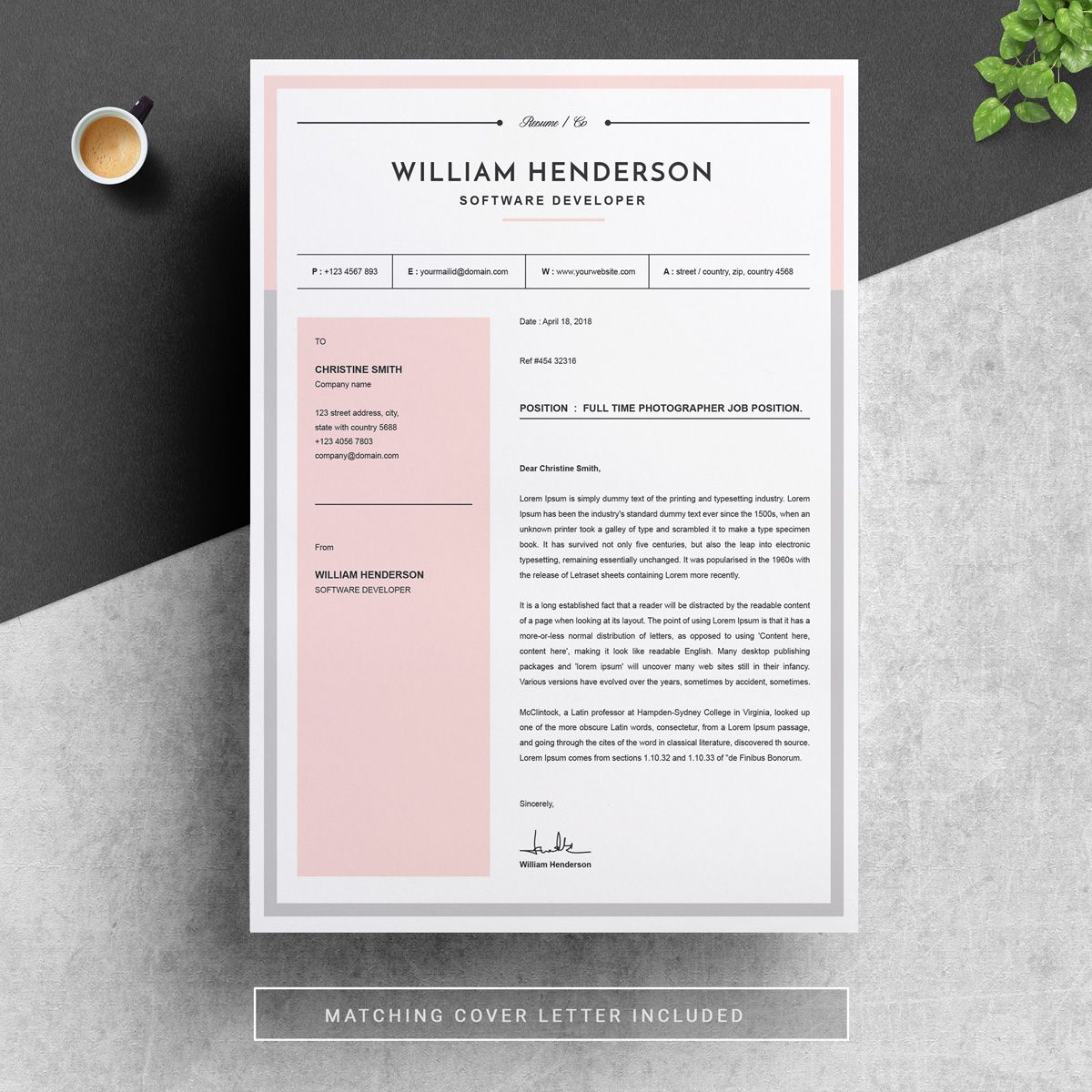 William Resume Template 79019 Modern resume, Resume