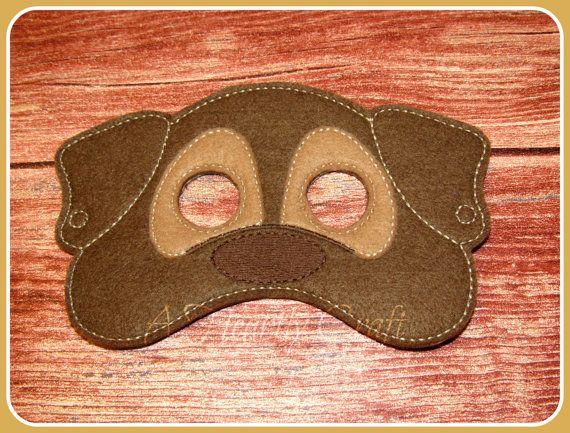Felt Dog Mask For Childrens Pretend Play Birthday Party