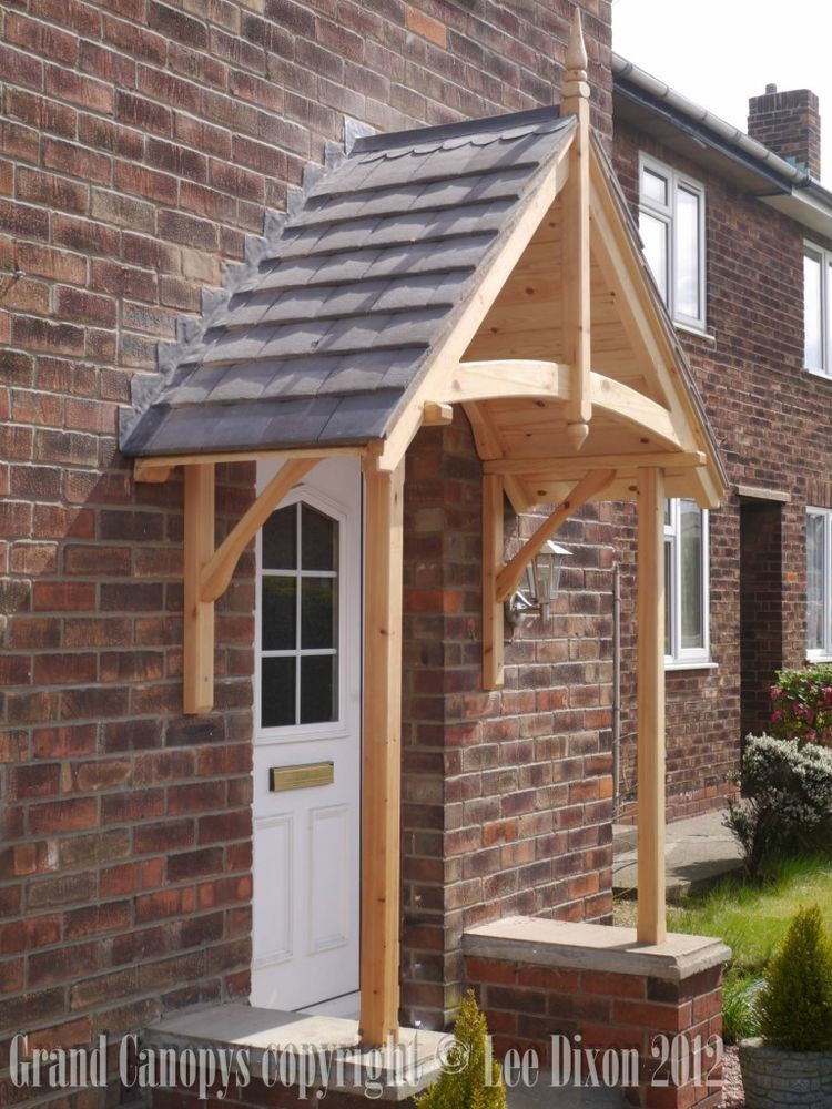 Timber door canopy timber door porch things for the home for Porch canopy plans