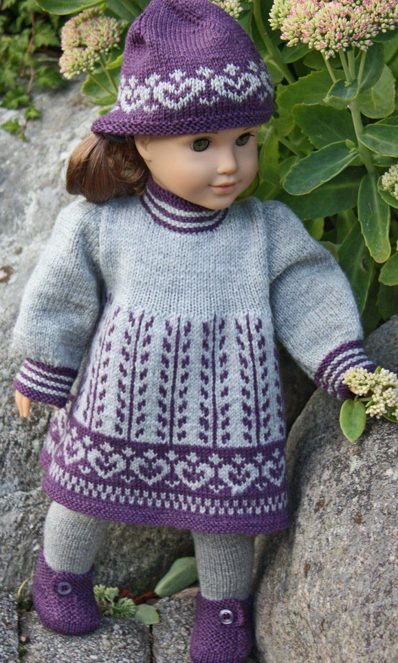 Knitting patterns for dolls | Knitting patterns doll | Doll knitting ...