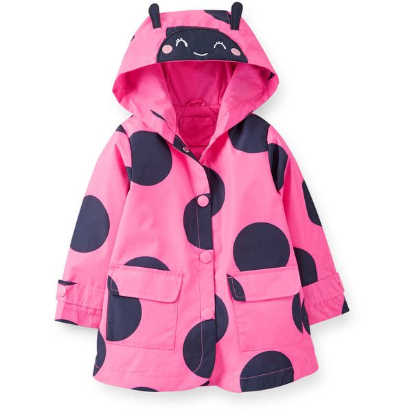 Ladybug Raincoat (€21) ❤ liked on Polyvore featuring baby, baby girl and kids