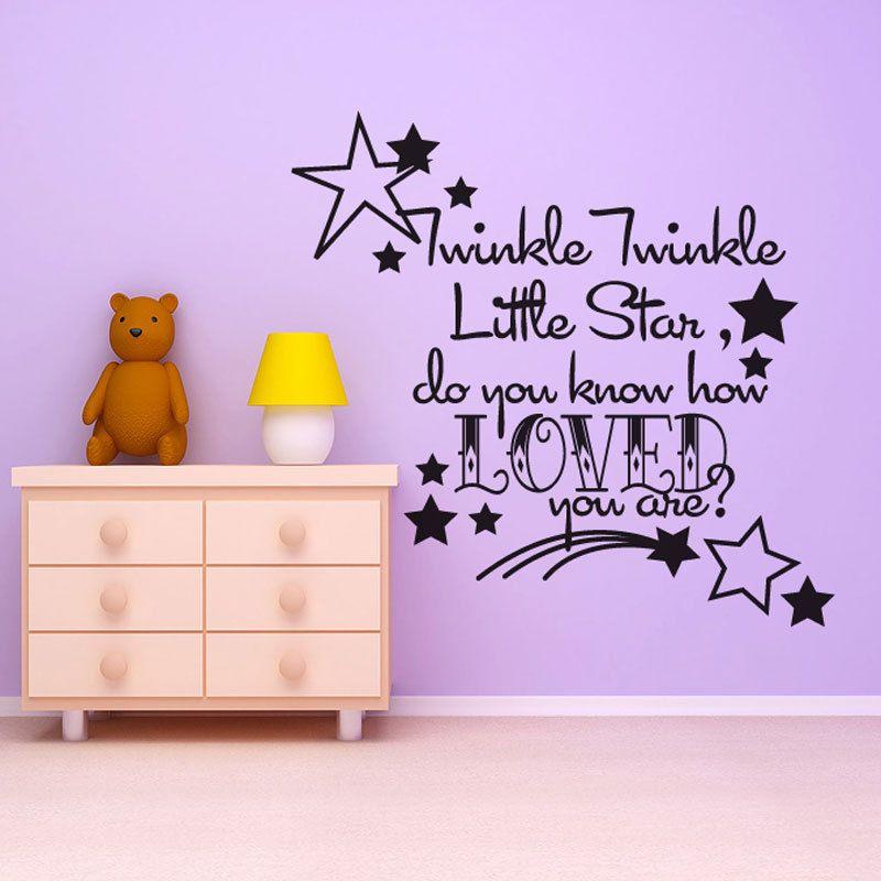Twinke Twinkle Little Star - kids wall mural - Vinyl Wall Decal ...