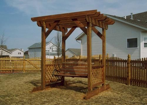 Trellis With Swing At Menards Pergola Pergola Swing Pergola Plans