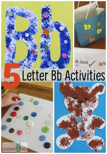 Alphabet Activities Letter B Activities Letter B Activities Letter A Crafts Alphabet Activities Letter b activities for preschoolers
