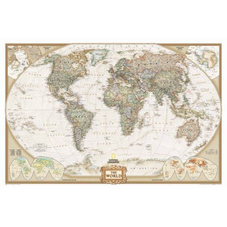 National geographic maps world executive wall map walmart national geographic maps world executive wall map walmart new apt wish list pinterest wall maps walls and living rooms gumiabroncs Images