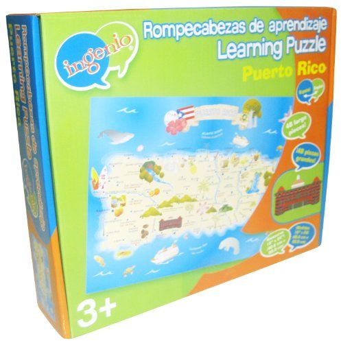 Ingenio Puerto Rico Map Bilingual Learning Puzzle  For more