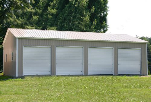 High Pole Barn Garage With Images Prefab Garage Kits Garage Door Design Prefab Garages