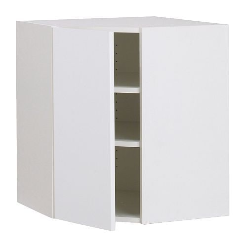 AKURUM Wall corner cabinet IKEA You can customize spacing as needed,  because the shelf is - AKURUM Wall Corner Cabinet IKEA You Can Customize Spacing As