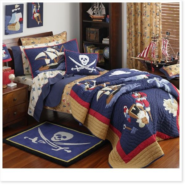 Pirate Island Kids Bedding by Freckles, Destin would love this!