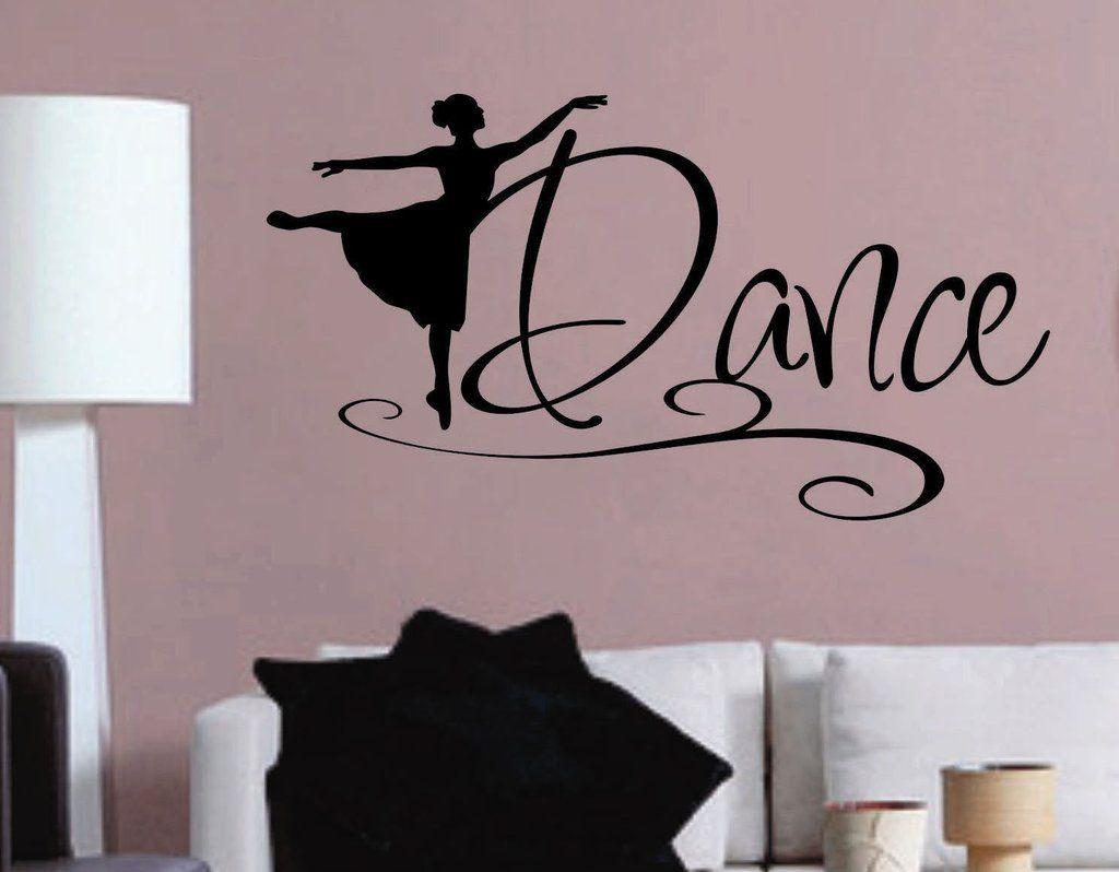 Dance Ballerina Silhouette Decal Vinyl Wall Lettering Wall - Custom vinyl decals quotes   beginning business