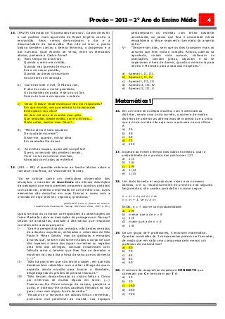 I PROVÃO - PROVAS DO PRIMEIRO DIA - 2º ANO (COM GABARITOS)