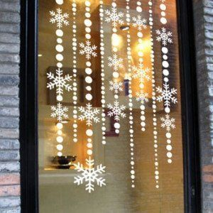 Christmas Decoration Shop Window Sign Children Wall Stickers - Snowflake window stickers amazon
