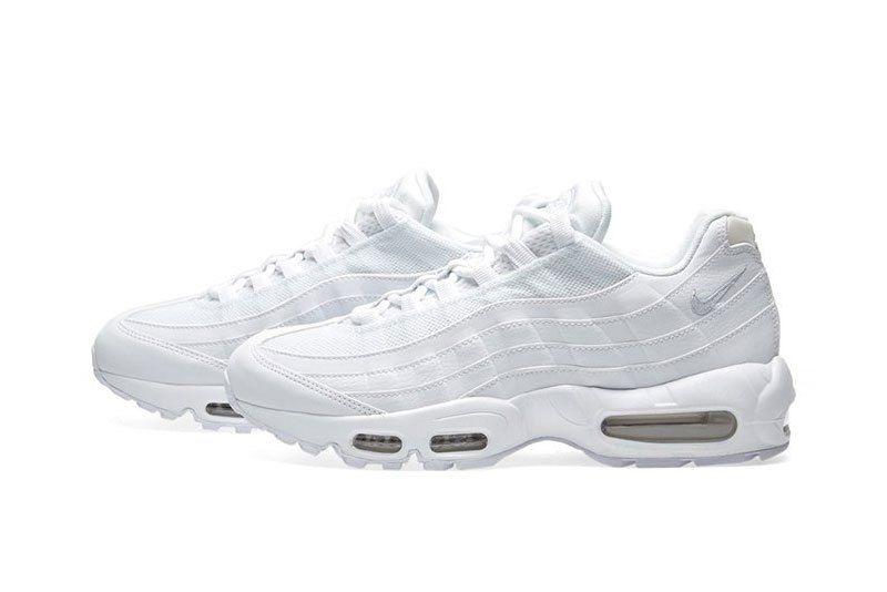 watch 57787 f16c8 Nike Air Max 95 Triple White Sneaker