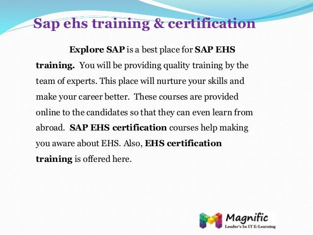 what is ehs certification - Google Search | EHS Cert Samples | Pinterest