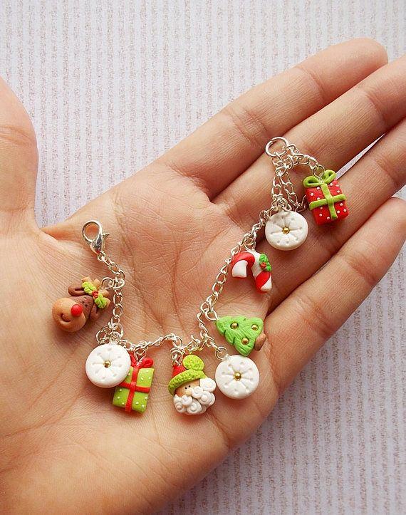 Christmas bracelet, handmade Christmas gift for girlfriend