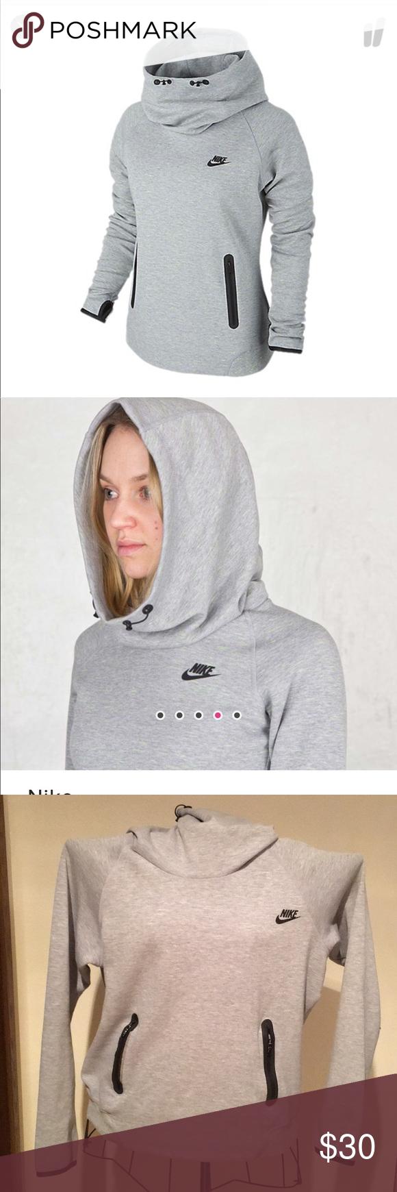 Women s Nike tech fleece hoodie in grey volt 💚  3cbe64f6ec