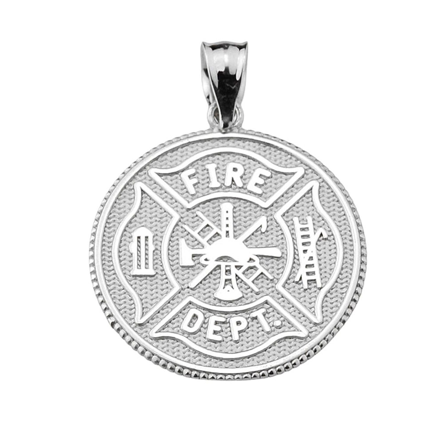 Firefighter Maltese Cross Sterling Silver With Prayer Blessing Pendant Ch1846z3cx0 Sterling Silver Pendants Trendy Necklaces Cross Pendant