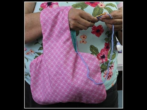 YouTube - crochet or knitting bag to slip over arm to hold yarn ... af78e224808d0