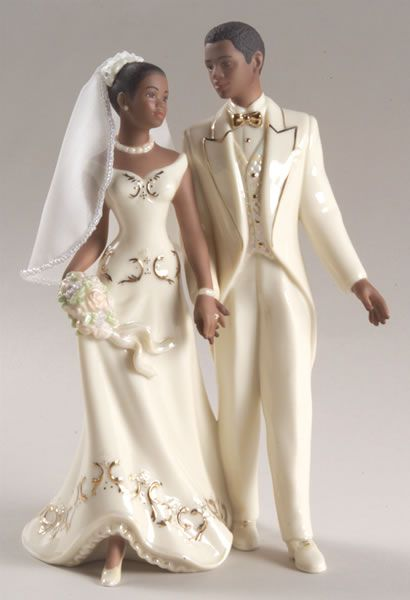 African American Wedding Cake Tops Just Married African