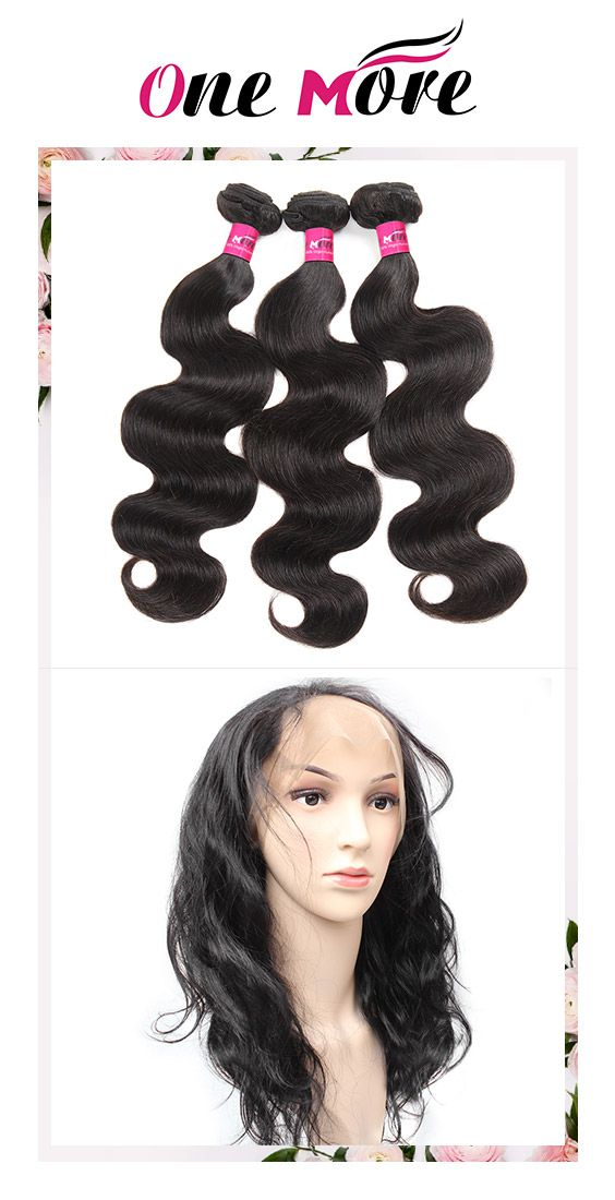 3 Bundles Body Wave Malaysian Hair With 360 Lace Frontal Lace