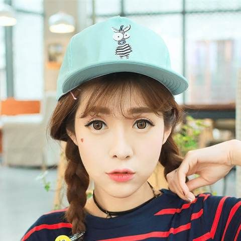 87ae9bd640b Cute zebra baseball cap for girls fashion blue sun protection hats ...