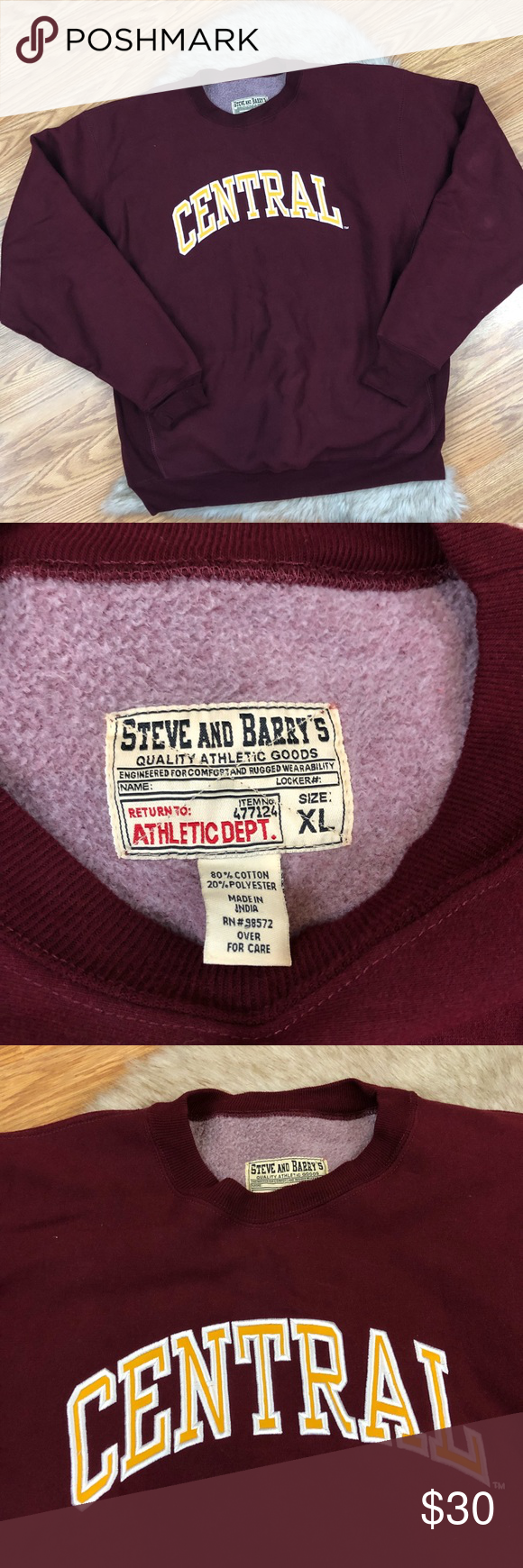 Steve And Barry S Central Michigan Sweater Size Xl Sweater Sizes Sweaters Steve [ 1740 x 580 Pixel ]