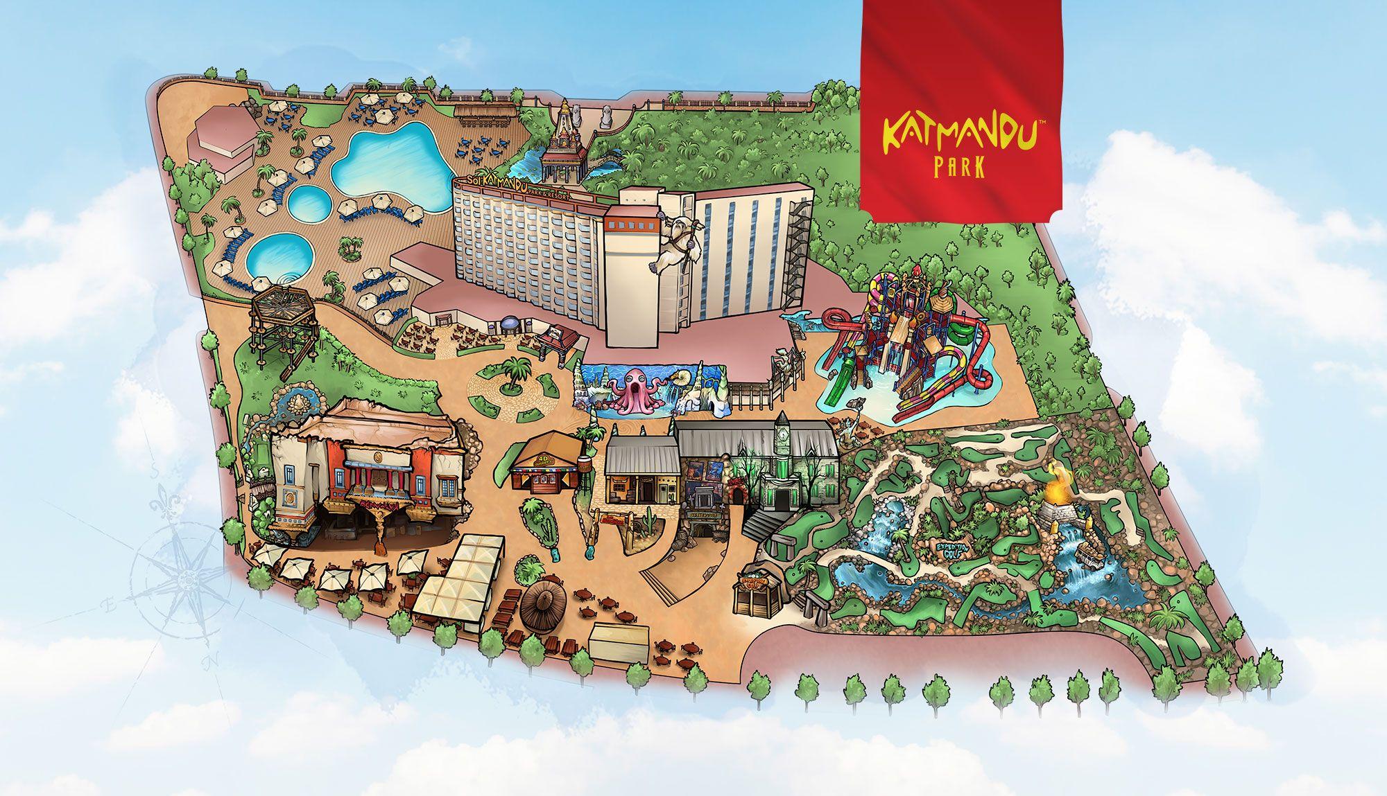 Katmandu Park Map Avec Images Majorque