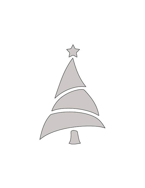 9 H x 6 W String Art Christmas Tree with Star Pattern \/ Template - star template