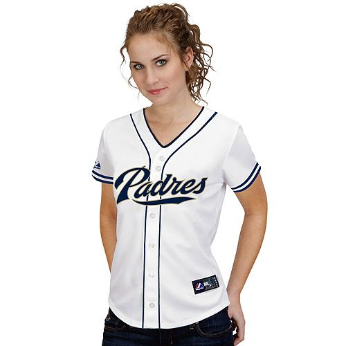 San Diego Padres Women s Replica Jersey by Majestic Athletic - MLB.com Shop 06fa8b23d