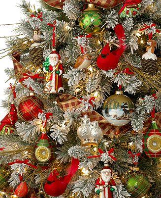 Holiday Lane Christmas Ornaments Woodland Retreat Tree Theme Macy S Christmas Tree Themes Country Christmas Crafts Christmas