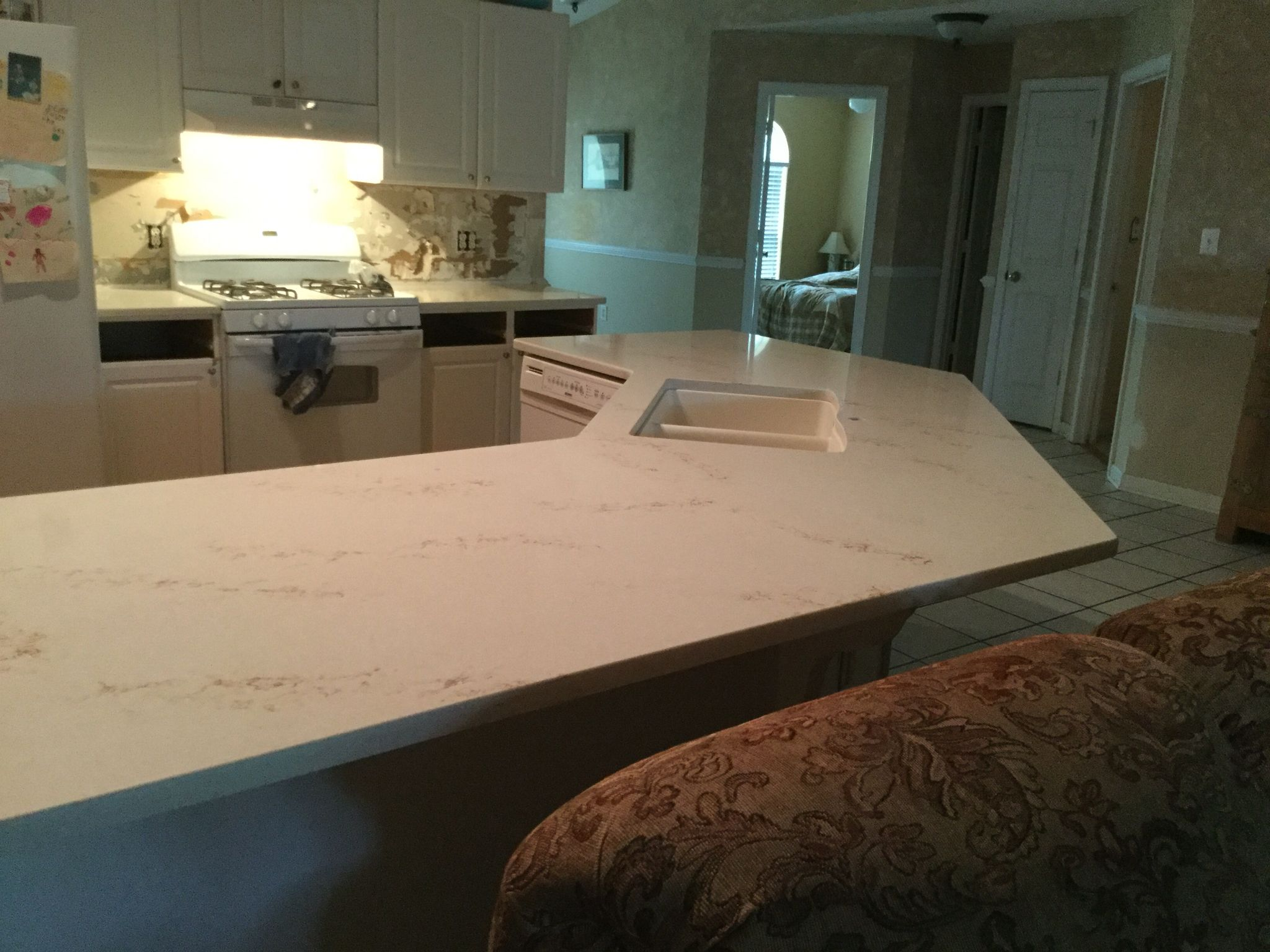 Phase 2 New Quartz Hanstone Countertop In Serenity Installed By