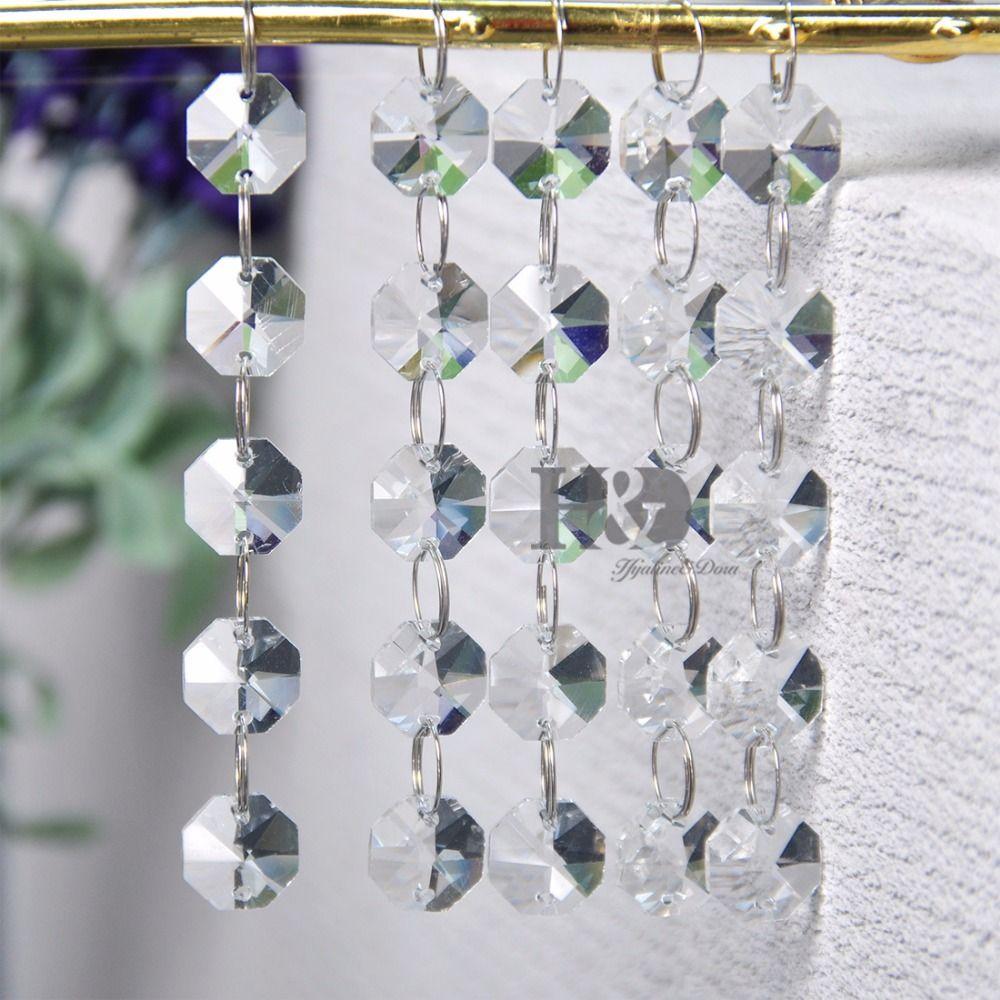 5Chain/set 6 Color Crystal Chandeliers Glass Prisms Parts