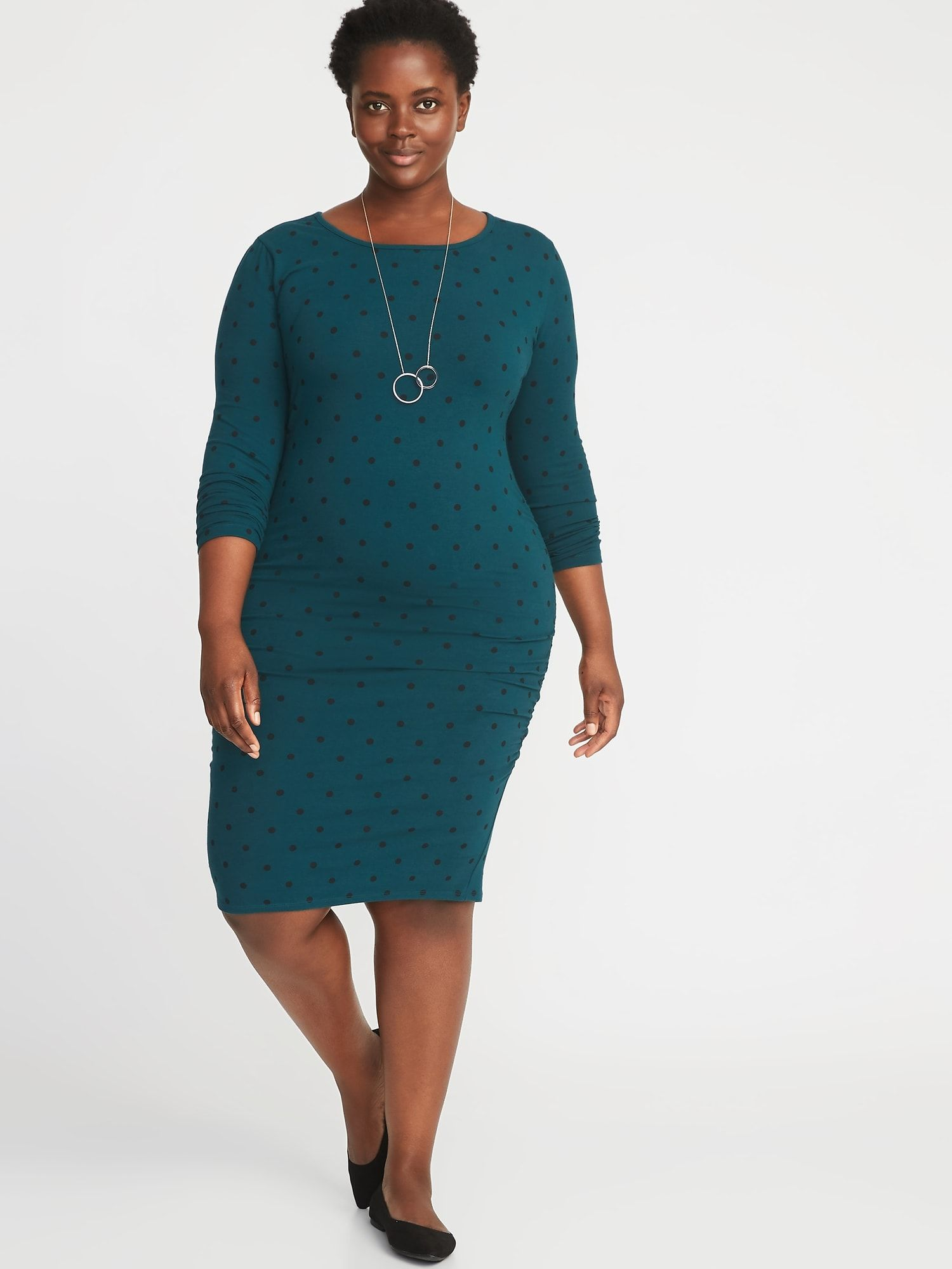 463bf0647859 Jersey Scoop-Neck Plus-Size Bodycon Dress